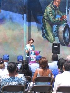 Jane Golden addresses the gathering