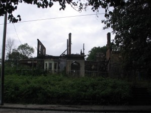 Germantown Ave Mansion after the fire